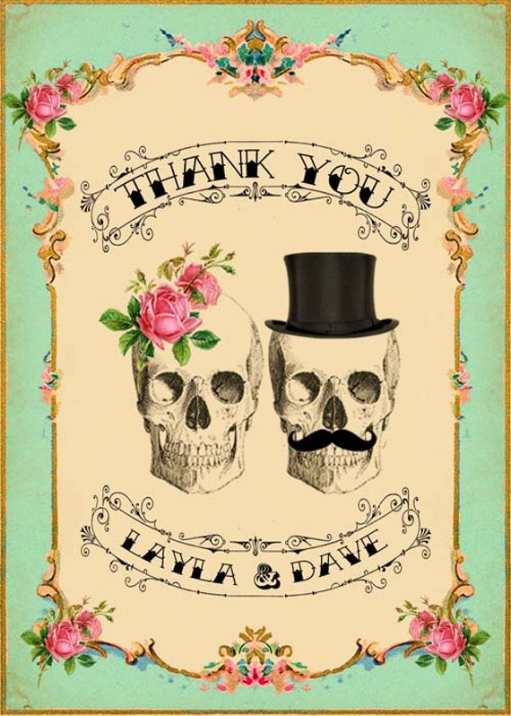 printable diy wedding thank you card digital download