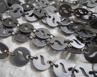 5 Feet Vintage Steel Disc Chain