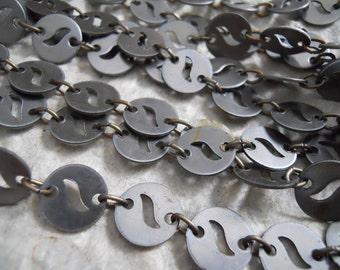 5 Feet Vintage Steel Disc Chain
