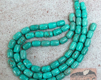Dyed Magnesite Bead Strand, 15 mm, Turquoise Color  Mag-1