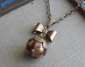 1/2 Price Sale!!! Mr. Bow Tie, Victorian Waistcoat Button Necklace-  Darcy