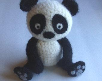 PDF Pattern -  Crochet and Felt Panda Bear Pattern