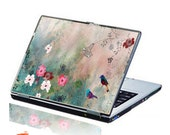 Wild Poppy and Birds Laptop Skin Decal