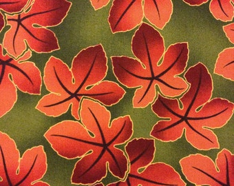 REMNANT Kona Bay quilt cotton yardage Falling Leaves collection Autumn