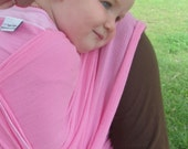 Cotton Gauze Baby Wrap Carrier - Summer Wrap Peony Pink - 25 colors in shop - DVD included