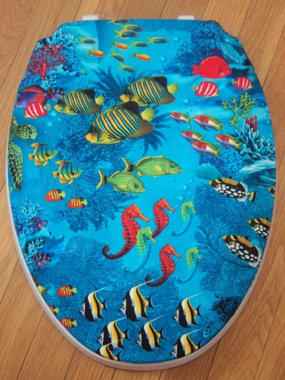 Seahorse Reef Fish Toilet Seat Cover