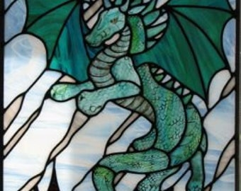 Stained Glass Dragon Pattern