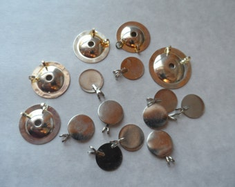 10 Assorted Pendant Bail-Glue On Domed and Flat Pad