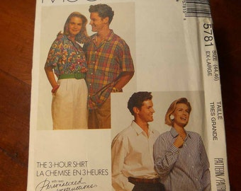 Uncut McCall's Shirt 5781 SZ 44 46