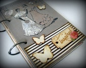 Ready to ship! Retro/Vintage Upcycled/Recycled Book Femme Inspiration Premade Art Journal/Smashbook