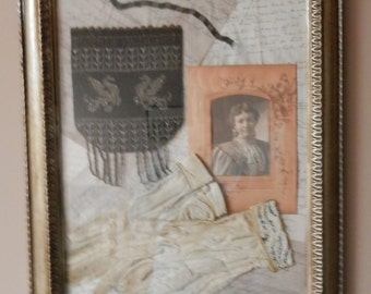 Antique Collage of Treasured Items- Memories of the Past