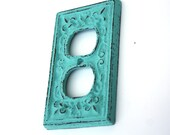 Shabby Cottage Chic Cast Iron Electrical Outlet Plate Cover