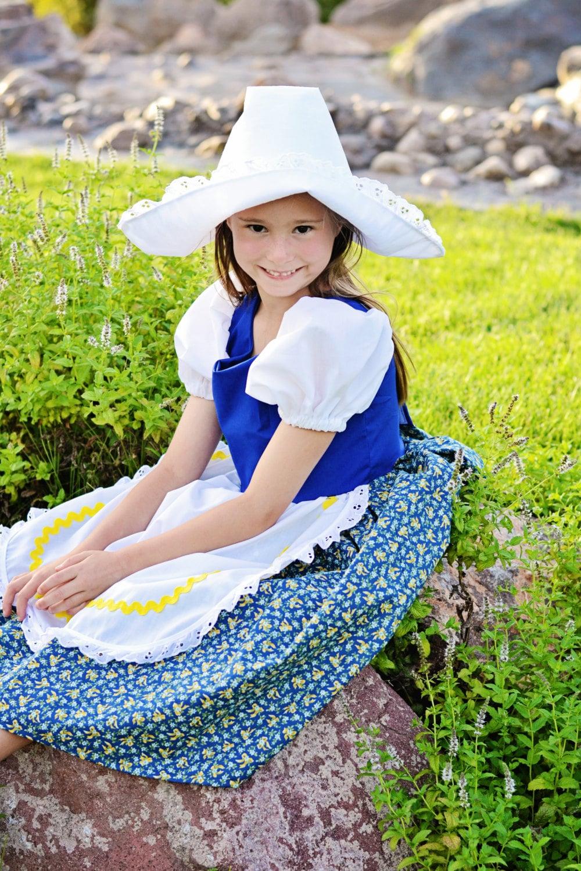 Cute Little Dutch Girl Costume Dress and Hat Netherlands Cutedutch Nl