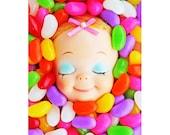 candy doll print 5 x 7 jellybean girl JILLY BEAN