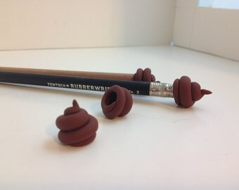 Cute Poop Pencil Topper Eraser