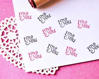Love You Rubber Stamp