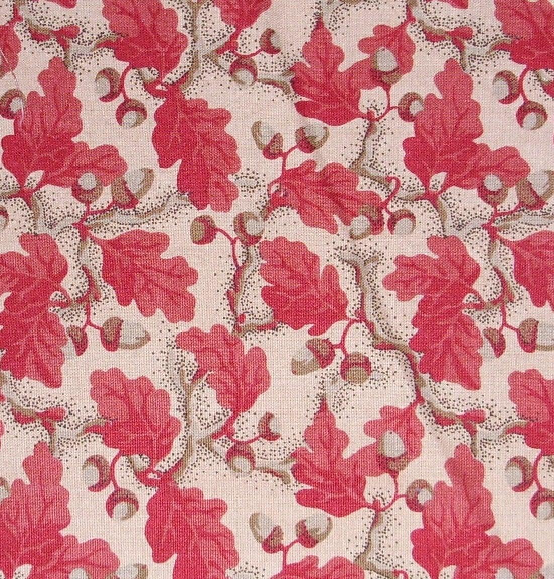 Oak leaf acorn cotton fabric remnants for Fabric remnants