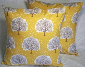 """Majestic Oak Trees Throw Pillow Cover - Majestic Oak Tree Sunglow Joel Dewberry Modern Meadow - 16"""" (**)"""