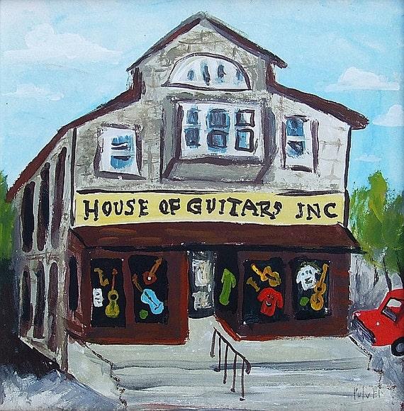 House of guitars art print rochester irondequoit ny
