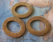 1 PC Oval woven brass mesh ring - 33mm x 46mm - H0169