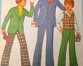 Vintage Sewing Pattern Simplicity 8285 Boys' Suit Sizes 4 and 6 Complete