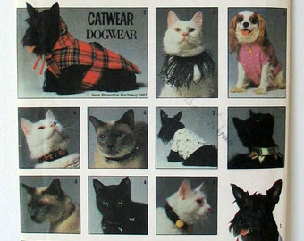 Sewing Pattern Simplicity 8416 Dog and Cat Coats and Collars Uncut Complete