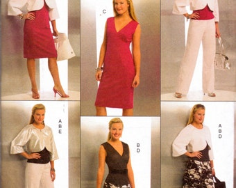 Sewing Pattern Butterick 5188 Dress Bolero Skirt Pants Sizes 6-12 or 14 to 20  Uncut Complete