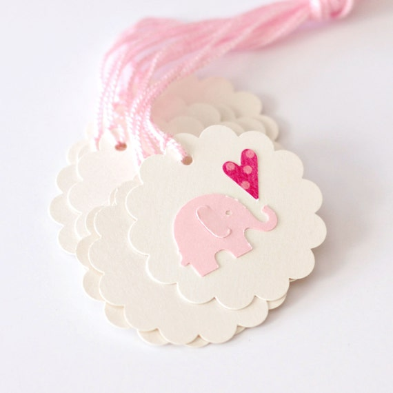 Baby Gift Labels : Tags elephant gift baby shower birthday