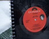James Brown  -  Recycled vinyl record notebook