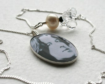 Oscar Wilde Sterling Silver Charm Necklace Memento Mori