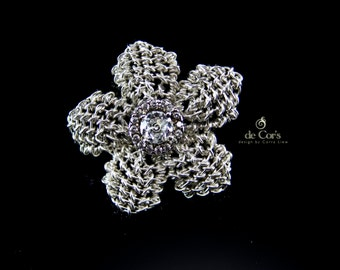 Wire Jewelry Tutorial - Forget-Me-Knot, Interchangeable Knotted Flower Petals, Wired Chinese Knot, DCH022, The Love Knot