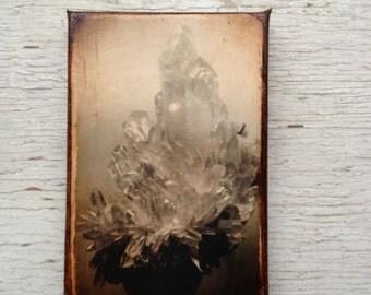 Rock quartz crystal photo  A - Wall Art