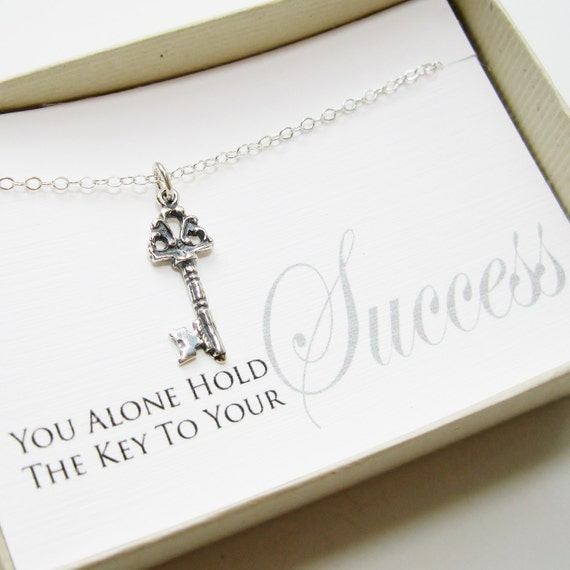 key to success necklace sterling silver by susidjewelry on