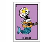 El Sireno Small Vinyl Sticker Day of the Dead Art