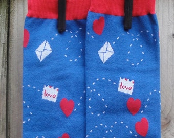On SALE - Love Letters  and Heart Leg Warmers for Baby, Toddler, Child - Arm Warmers for Kids, Tweens, Adults - Valentine's Day Gift