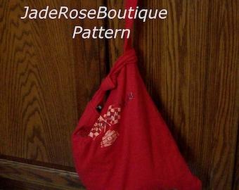 Tote Bag Pattern, Grocery Bag,T Shirt Tote, DIY Tote, Grocery Tote, Pattern for Tote, Market Bag Pattern,  PDF102