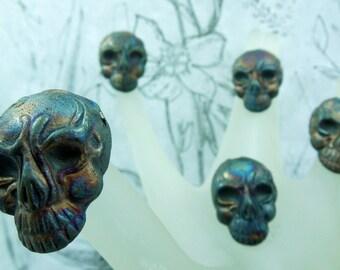 Raku  tribal skull