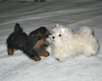 Needle Felted Dog /Custom Miniature Sculpture of your pet Cute / Poseable