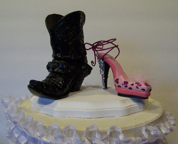 boot wedding cake topper items similar to wedding cake topper western cowboy boot 12096