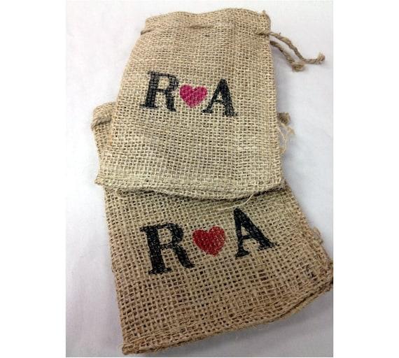 Diy Burlap Sack: Items Similar To Wedding Favor Bags Custom Burlap Bags 25