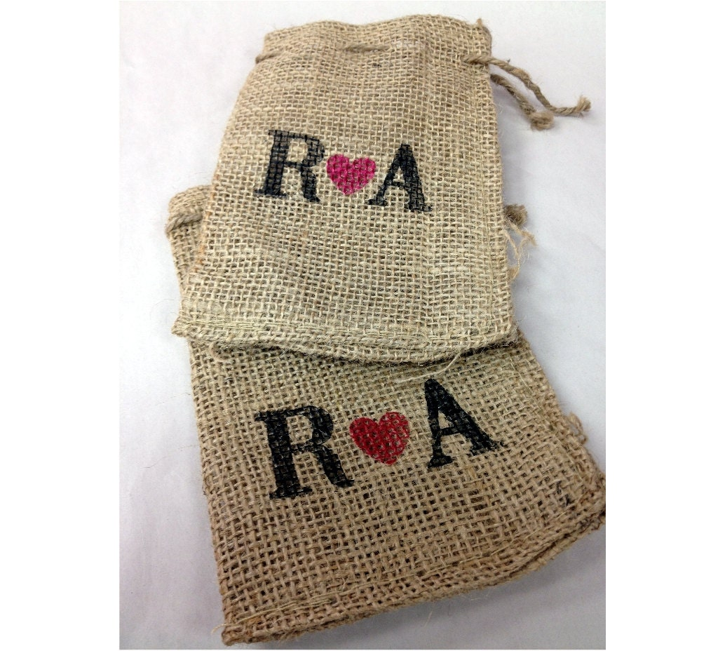 Wedding Favor Gift Bags: Wedding Favor Bags Custom Burlap Bags 25 4x6 By Stampoutonline