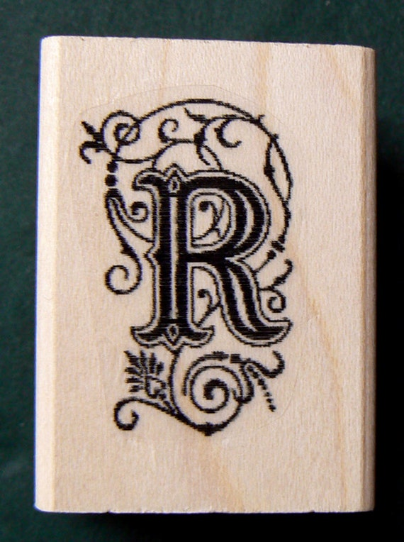 letter r rubber stamp wm