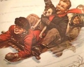 SALE Vintage 1975 Norman Rockwell Joy Unconfined Christmas Plate, Downhill Daring, Royal Devon.....ss Was 19.99 Now 12.99