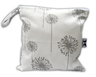 HEAT SEALED and BEST Selling Wet Bags here -Large Wet Bag in Dusty Dandelion with Snap Handle