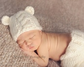 Baby Bear Hat Knit Boy Hat or Girl Hat Photography Prop