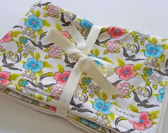 CLOSEOUT SALE - Organic Collection Baby Blanket - French Floral
