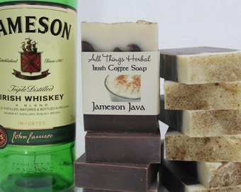 Jameson Java Handmade Soap - Irish Coffee with Jameson Irish Whiskey, creamy foam & sprinkles, Irish Coffee Soap, St. Patrick's Day