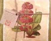 Marble trivet - Vintage flower