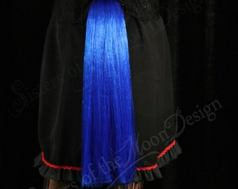 My Little Pony tail Royal Blue hair fall tie on bustle style cosplay costume halloween princess luna -- -- Sisters of the Moon