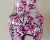 Cherry Blossoms Vase Hand Painted